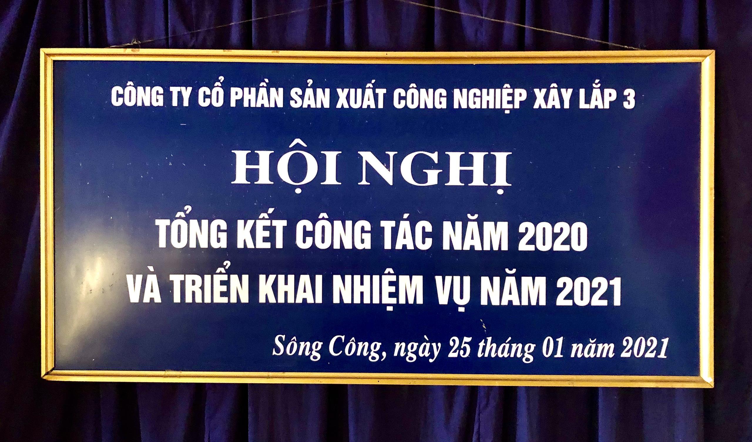 HỘI NGHỊ TỔNG KẾT CÔNG TÁC NĂM 2020 VÀ TRIỂN KHAI NHIỆM VỤ NĂM 2021