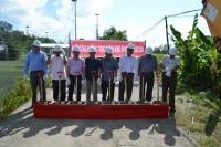 Lễ khởi công gói thầu số 14: Xây dựng nền mặt đường, cống, cầu (tuyến bên phải) thuộc dự án công trình: Đầu tư xây dựng công trình đường trục chính Khu Kinh tế Năm Căn, tỉnh Cà Mau